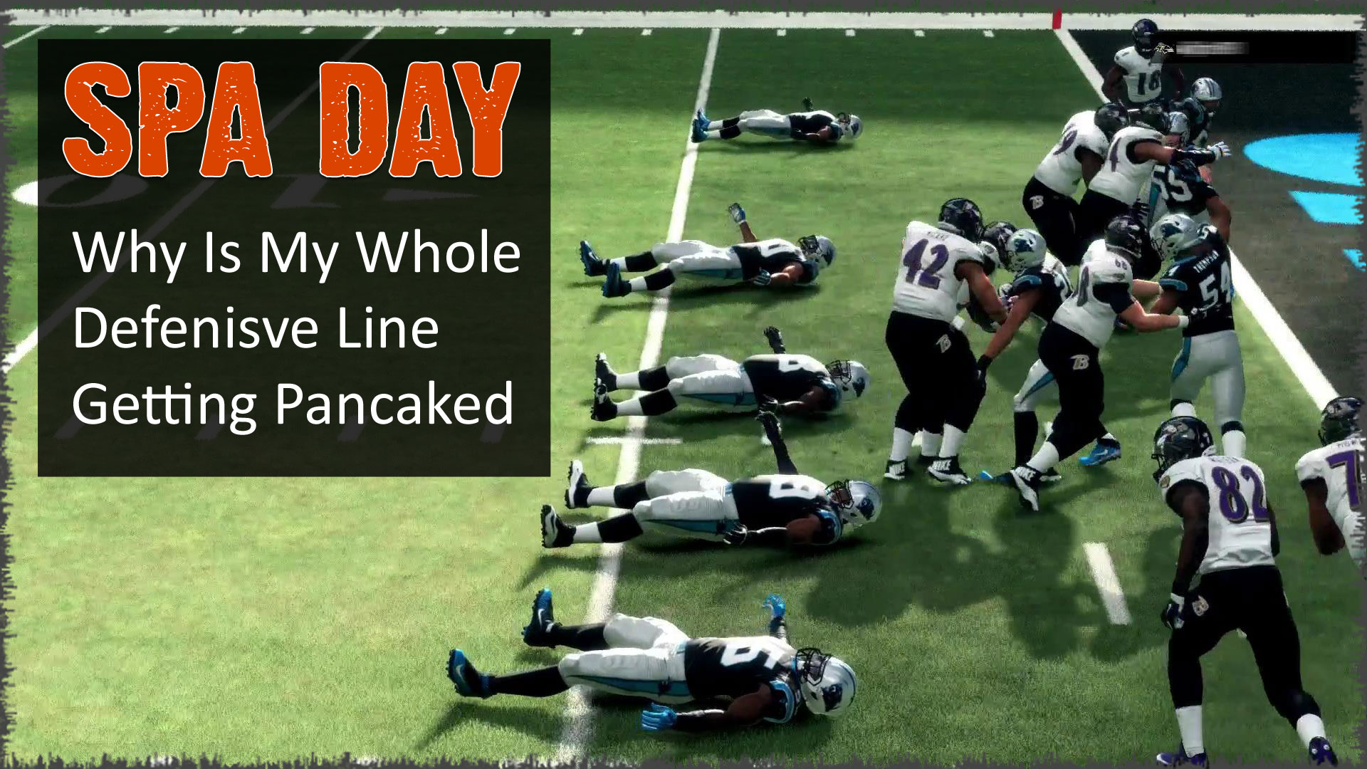 Madden NFL 18 has a questionable weak box logic that results in frequent and multiple pancake blocks.